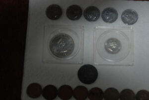 CANADA COIN LOT CANADIAN NICKELS  PENNIES (1) 1899 CENT 1 DOLLAR