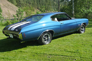 SS CHEVELLE 70 - SUPER BUILT - STRAIGHT!! Big money invested.