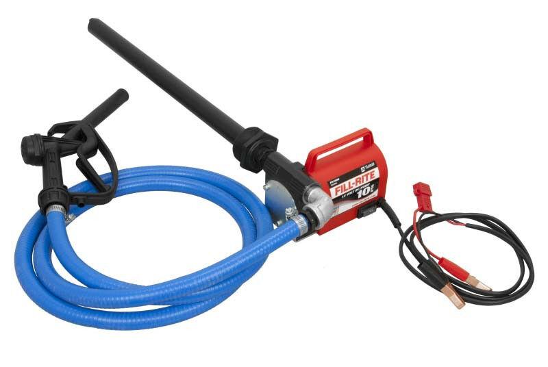 Tuthill Fill Rite FR1616 Portable 12V DC battery fuel transfer pump kit