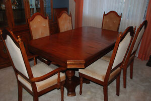 Classy dining room table and chairs