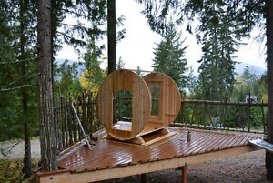 BARREL SAUNAS!! Seats 6 People, Easy to Assemble, Free Delivery North Shore Greater Vancouver Area image 4