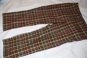 Woman LIZGOLF Summer Pants Capris 12 PLAD Brown-Pink-Green-White