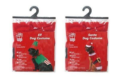 Dog Christmas Costume Elf or Santa Small Medium Large Extra Large Outfit 2 - Extra Large Hunde Kostüm