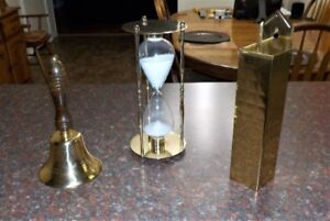 Vintage Brass and Glass Items