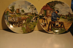 2 Vintage Royal Schwabap Holland Collector Plate