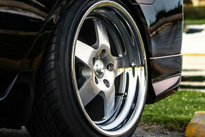 18 inch Klutch SL5 deep dish wheels with tires PRICE DROP