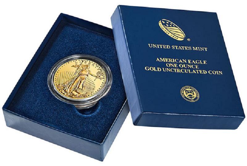 2011 W $50 GOLD UNC BURNISHED EAGLE BOX & COA
