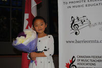Piano Lessons Barrie/WasagaBeach/Elmvale  *Limited space*