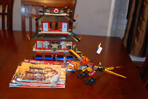 NINJAGO FIRE TEMPLE AND DRAGON