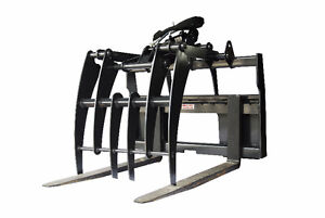 Jenkins HEAVY DUTY Pallet Forks Grapple Skidsteer Attachment