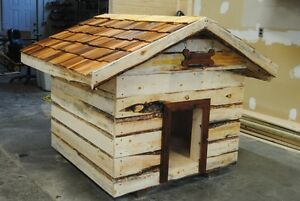 Large Insulated dog house with Cedar roof