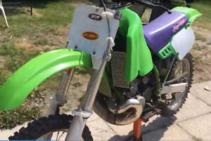 1994 kx 500 two stroke with new plastic