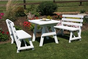 I WANT-LOOKING FOR used picnic table  bench style homemd / mfd