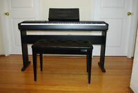 Casio cp-100 digital piano with stand and stool