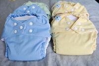 FuzziBunz Elite cloth diapers, EUC