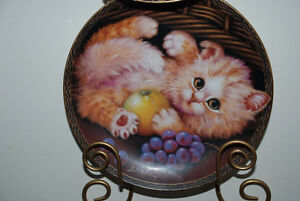 Kitten, Cat BRADFORD EXCHANGE Collectable Plate G14