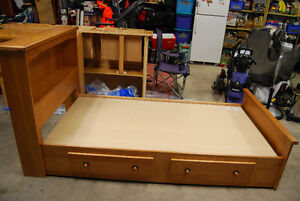 Captains Bed - Solid Maple twin size