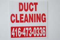 DUCT CLEANING SPECIAL FROM $89**  PLS CALL 416-473-0336