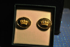 Vintage Men Cufflinks Crown