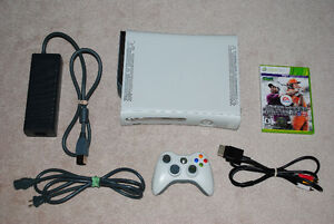 XBOX 360 Console with Hard Drive, Controller, Hookups + Game
