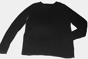 Lady's Black Knitted Sweater M size, New NT