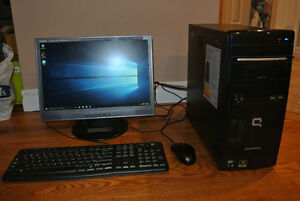 HP/Compaq Gaming Desktop - AMD,4GB,640GB,GF210,Office 2010