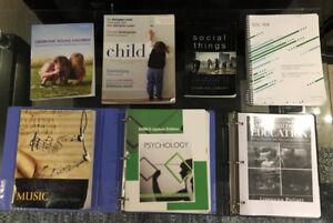 ECE, Psychology, Sociology, Music Textbooks!