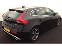 BLACK VOLVO V40 2.0 T2 D4 R DESIGN 1.6 D2 SE LUX FROM £51 PER WEEK!