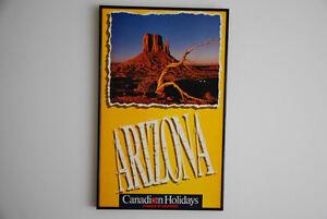 Vintage Framed Canadian Airlines Arizona Poster