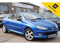 2004 54 PEUGEOT 206 1.6 ALLURE S COUPE CABRIOLET 2 DOOR MANUAL PETROL 108 BHP