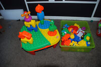 Child Education Activity Build Blocks Table