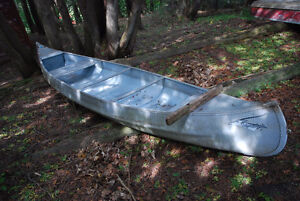 16 foot Aluminum Springbok Canoe with Electric Motor