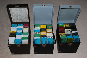 Lot of 3 Vintage Containers Full of  Slide Trays Kitchener / Waterloo Kitchener Area image 2