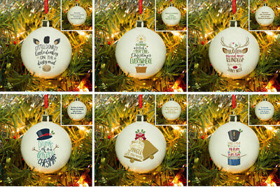 Ideas For Halloween For Kids (PERSONALISED Bone CHINA Christmas BAUBLE Gift Idea Him HER Present For Kids  )