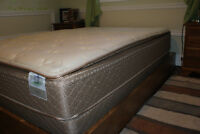 Double bed pedestal frame - Port Hope