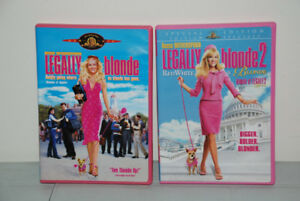 2 x DVD - LEGALLY BLONDE- 1, 2 movies - Reese Witherspoon