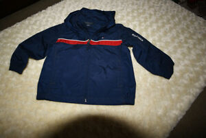 Boys Tommy Hilfiger Jacket Navy With Red Trim Size 2 Years
