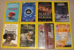 8 Issues Of National Geographic Magazine From 2011-2018