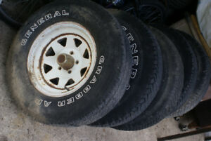 Trailer tires and rims 235x75x15