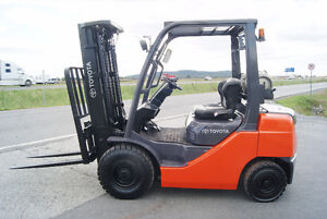 chariot elevateur,Forklift,side shift,pneumatique,toyota 8fgu25