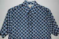 MARNI for H&M Blue Geometric Short Sleeve Shirt