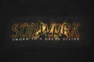 Women's Unisex Small Black music T-shirt SOILWORK (Swedish metal