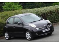 2010 10 Nissan Micra 1.2 16v N-TEC 5 Doors, Black, Cheap to insure and drive