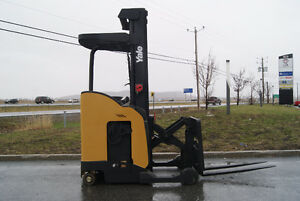 FORKLIFT,CHARIOT ELEVATEUR,ELEC,REACH,SIDE SHIFT, YALE NR035