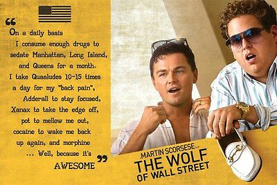 Wolf Of Wall Street 24X36 Poster Wall Art Funny Movie Leonardo Dicaprio New York