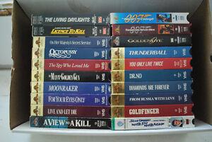 James Bond vhs movies