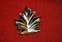 Vtg Sterling Silver Coro Brooch Maple Leaf Signed Designer