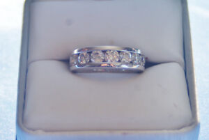 Ladies Eternity 14 K White Gold 1.50cwt.