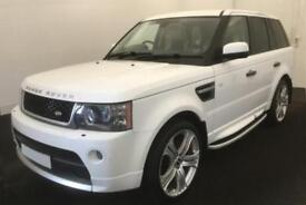 2011 WHITE RANGE ROVER SPORT 3.0 TDV6 HSE AUTO DIESEL CAR FINANCE FR £58 PW