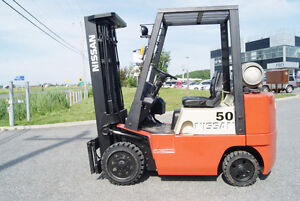 CHARIOT ELEVATEUR,FORKLIFT,DIESEL,CUSHION S/S,NISSAN CPJ02A25P